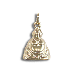 9ct Yellow Gold Buddah Hollow Charm Pendant