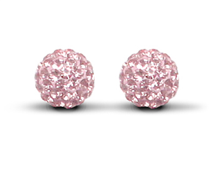 7.5mm Special Pink Earrings