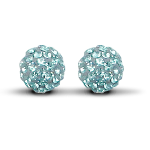 7.5mm Special Blue Earrings