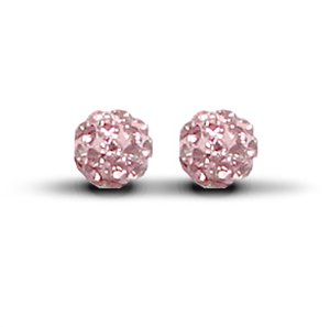 6mm Special Pink Studs Earrings