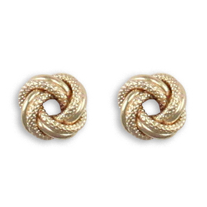 Frosted Double Knot Studs Earrings