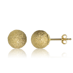 9ct Yellow Gold 5mm Satin Finish Ball Studs