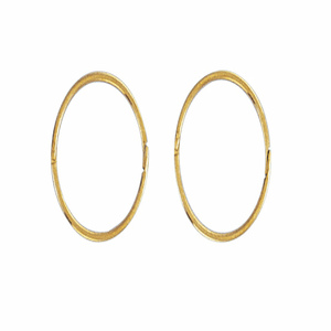 14mm Hinged Plain Sleeper Earrings