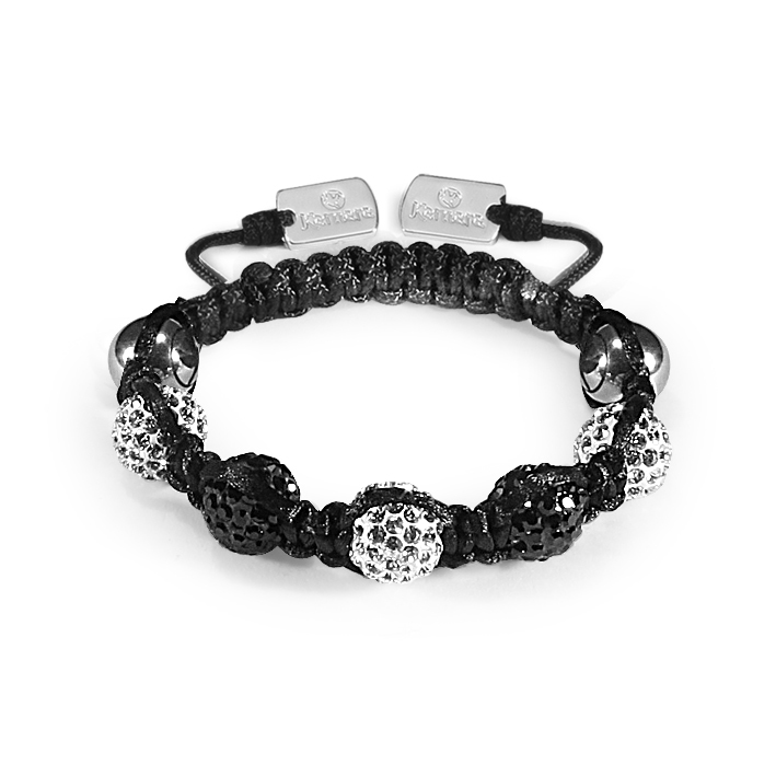Kamara 8mm Kids  Black&Wt Crystal